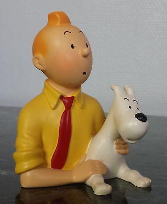 Buste en résine Pixi Tintin et Milou chemise Jaune Regout.