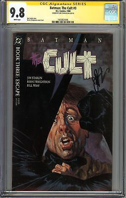 Batman: The Cult #3 CGC 9.8 NM/MT Signed JIM STARLIN Bruce Wayne Gotham City JLA