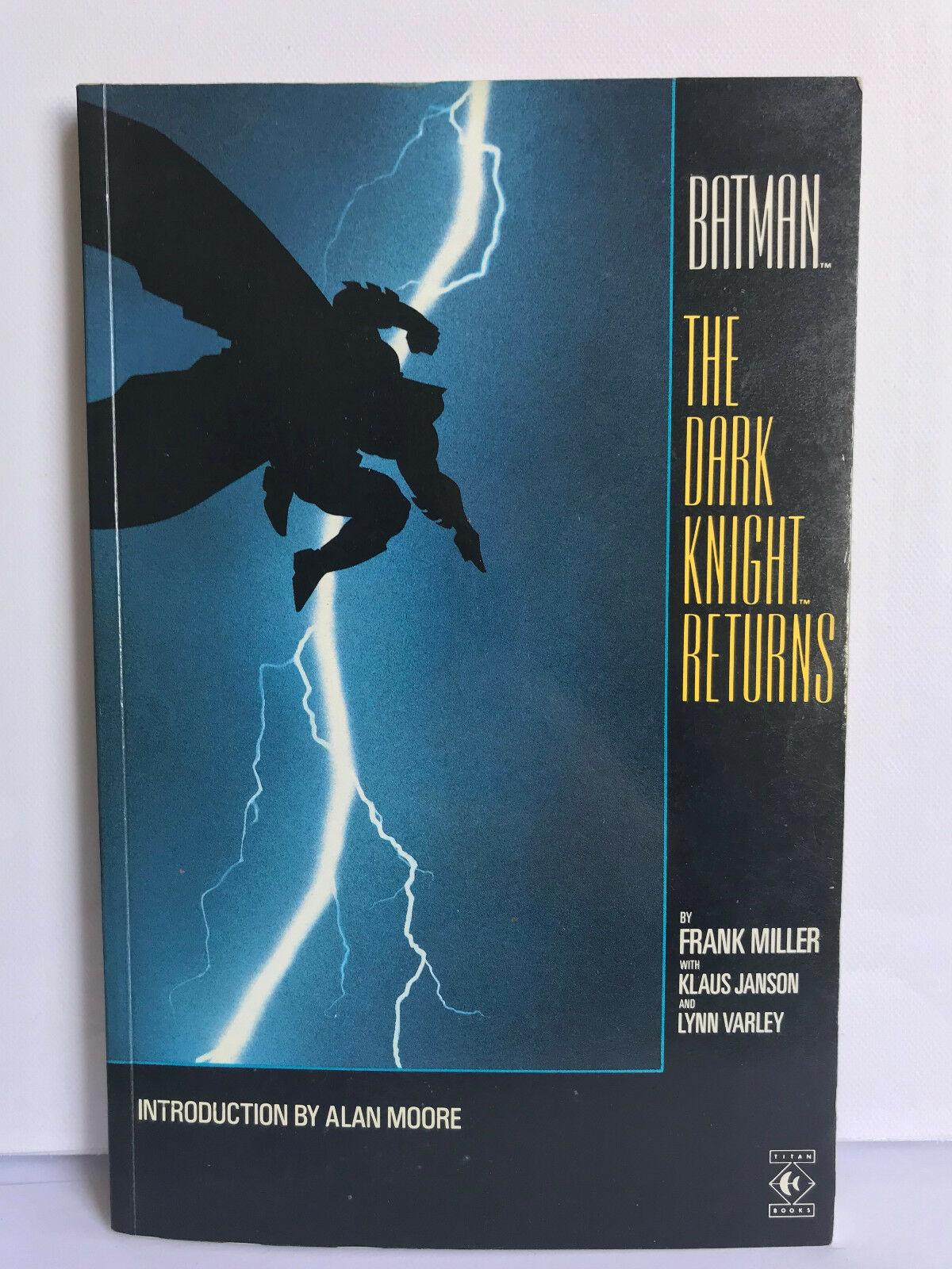 Batman The Dark Knight Returns 1st print U.K. Titan 1986 Comic graphic novel TPB
