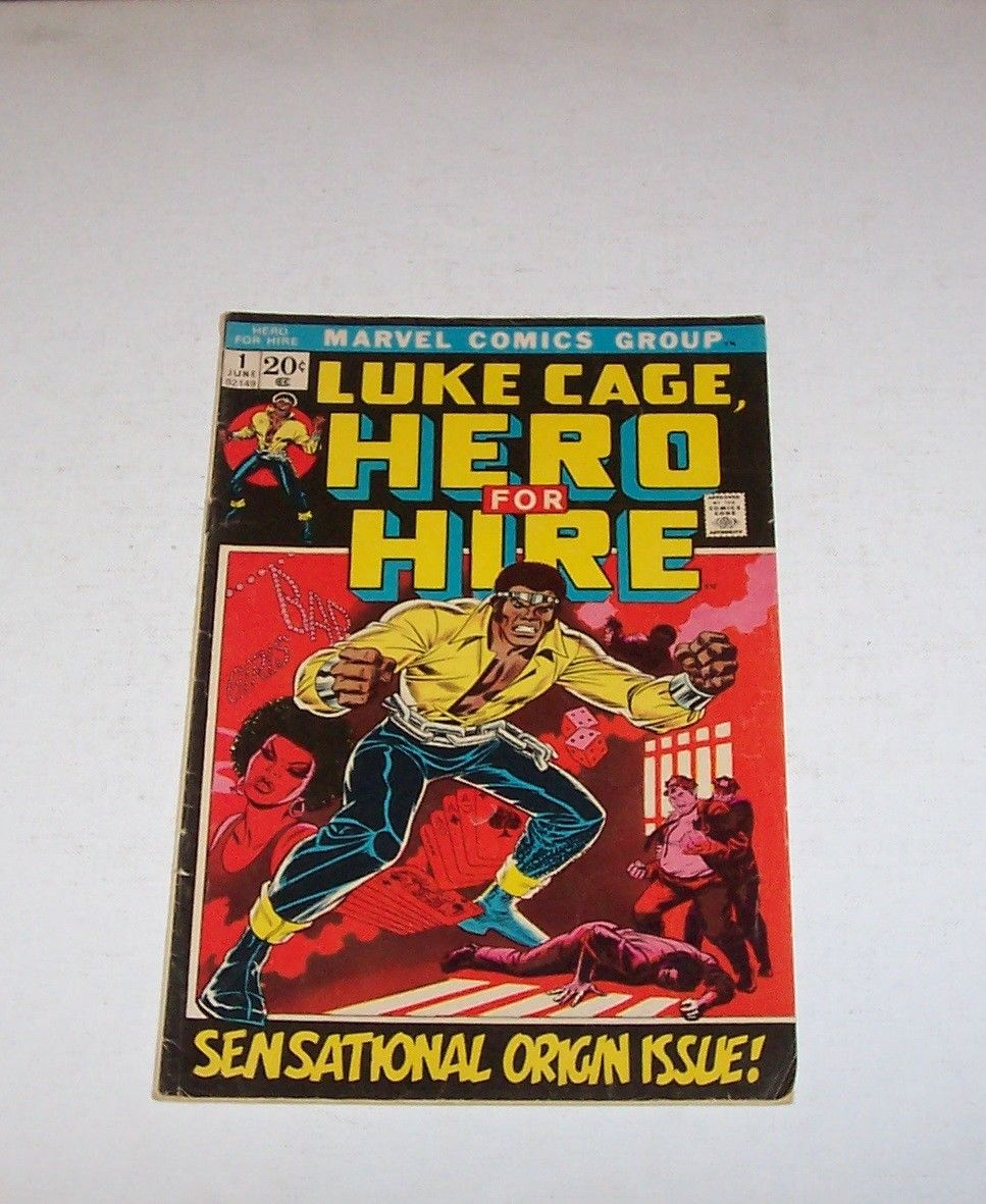 *LUKE CAGE-HERO FOR HIRE* #1 First Issue- Marvel Comics- 1972- Grade 7.0 NICE