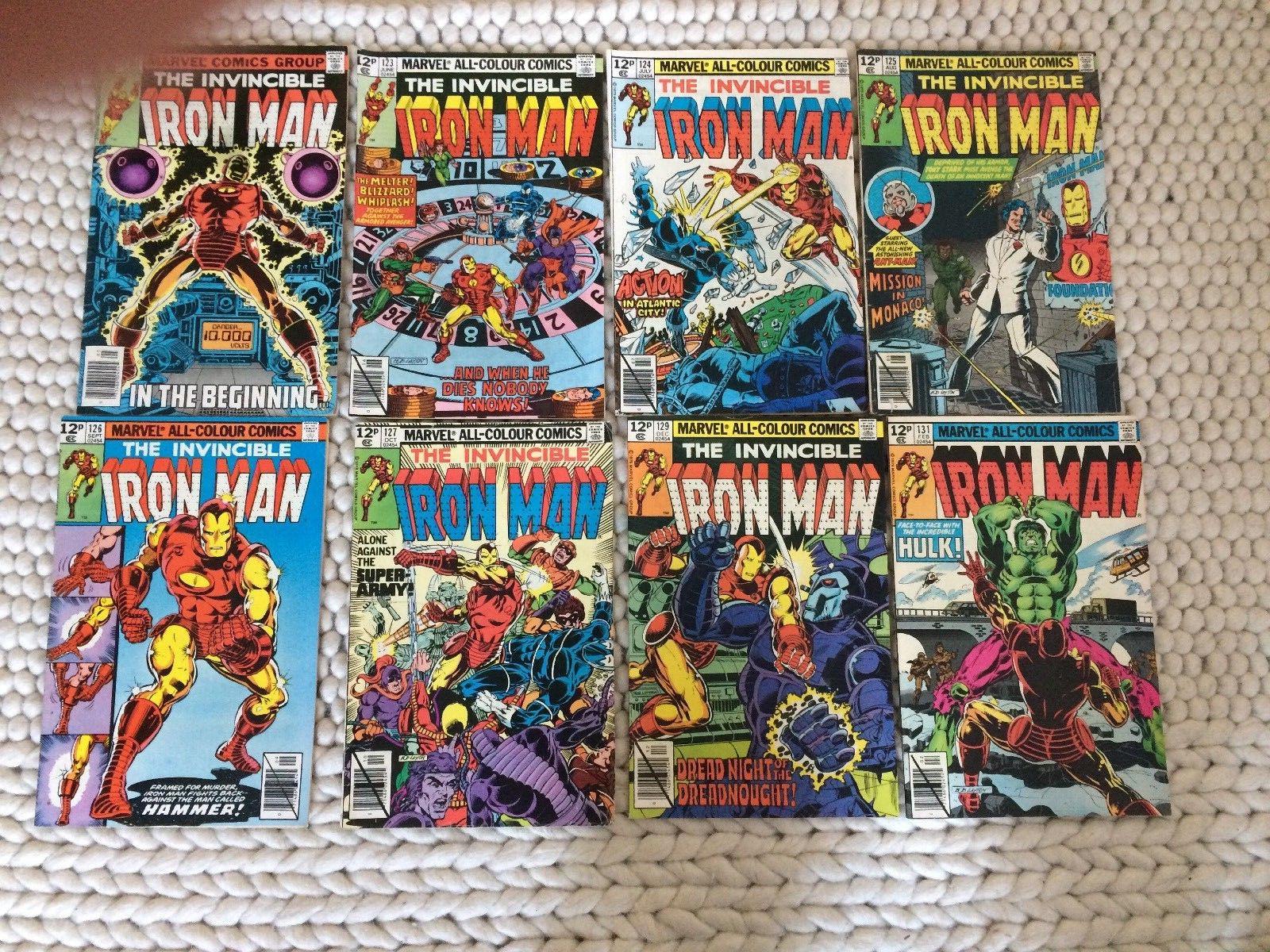 MARVEL COMICS LOT BRONZE-AGE IRON MAN 122-131 - EIGHT ISSUES HULK, ANT-MAN