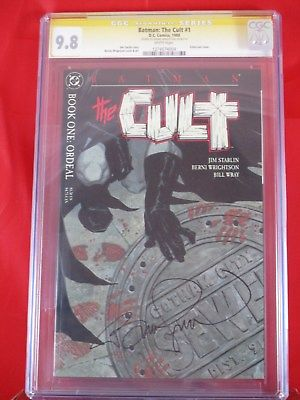 DC Comics Batman The Cult #1 Signed by Bernie Wrightson CGC SS 9.8 EMBOSSED