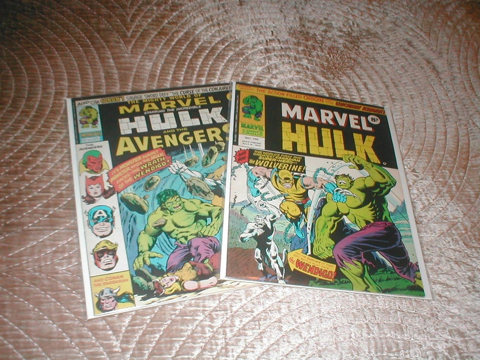 The Mighty World Of Marvel UK #198 and 199 first UK Wolverine apppearances