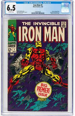 Iron Man #1 CGC 6.5 1968 Origin Avengers Thor Hulk Key Silver Age H12 122 cm