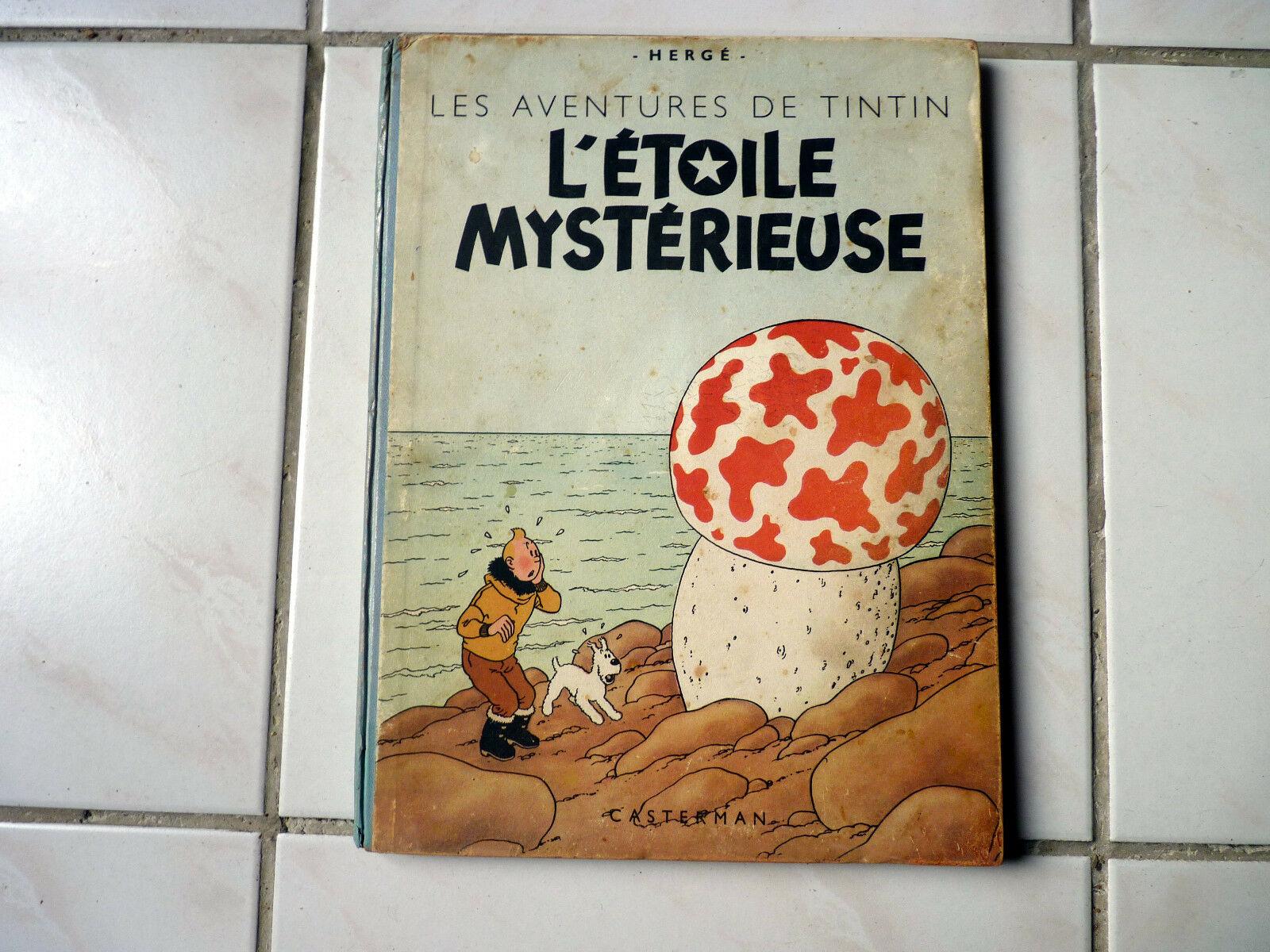 Tintin L'étoile mystérieuse B1 dos bleu de 1946 bon etat ++