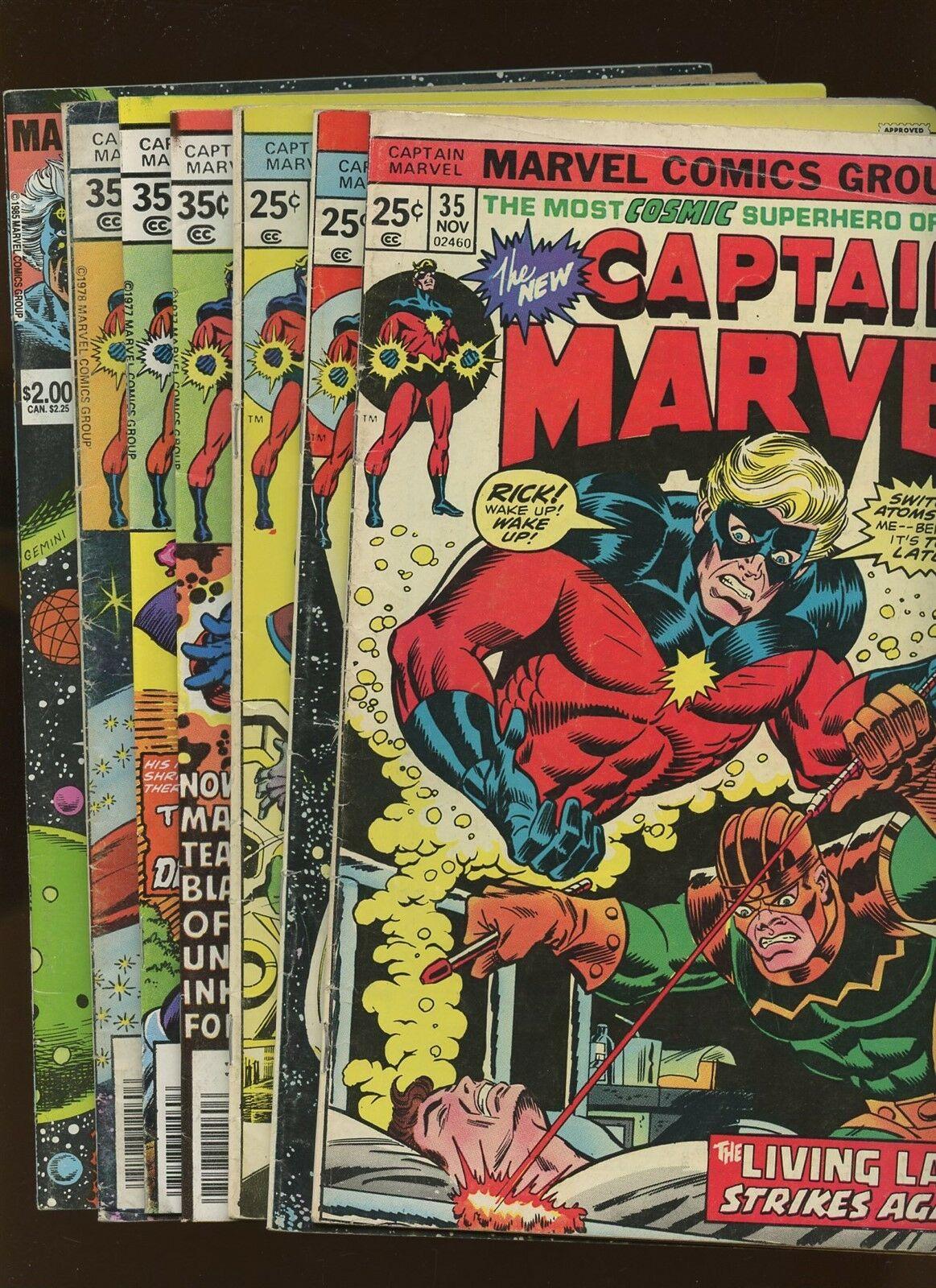 Captain Marvel 35,37,38,53,55,57; Life of Captain Marvel 1 *7 Books* Jim Starlin