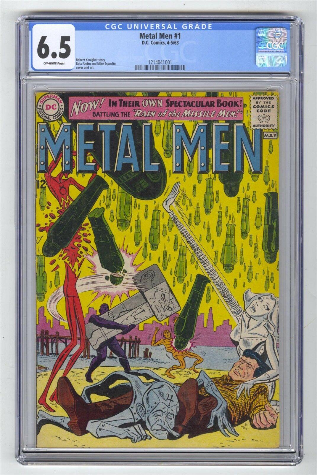 Metal Men #1 CGC 6.5 VINTAGE DC Comic KEY Premiere Issue Esposito Art