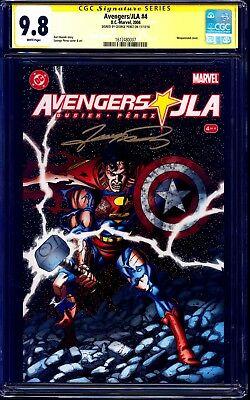 Avengers/JLA #4 CGC SS 9.8 signed George Perez CLASSIC SUPERMAN COVER MARVEL DC