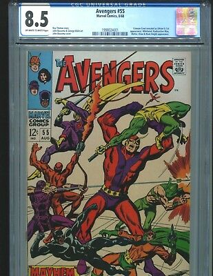 Avengers 55 CGC 8.5 (was 9.0) OW/W pages 1st Ultron 5 1968