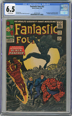 1966 Fantastic Four 52 CGC 6.5 1st Black Panther