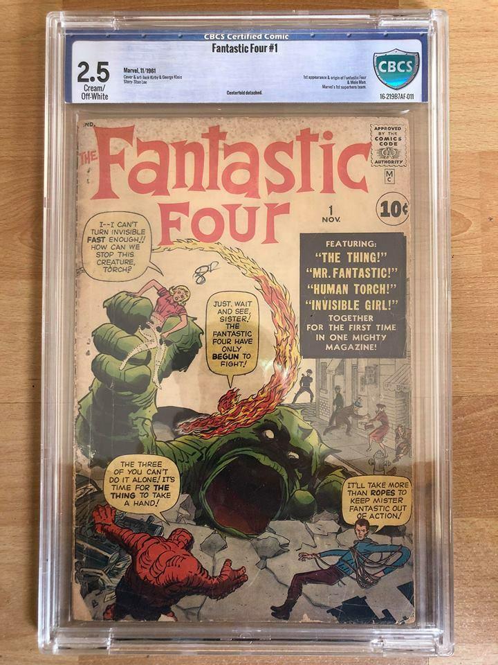 Fantastic Four #1 vol.1 Marvel Comics 1961 CBCS 2.5 Cream/Off White