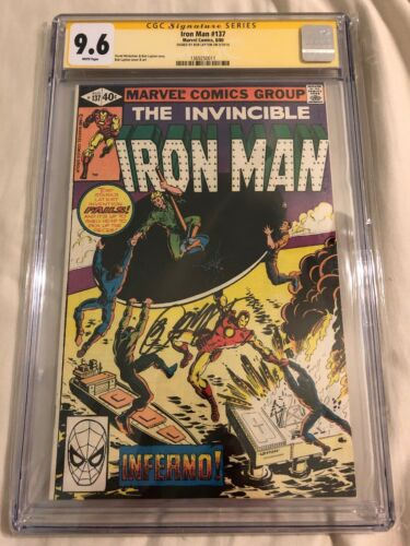 The Invincible Iron Man #137 CGC SS 9.6 NM+ Signed by Bob Layton Marvel Comics