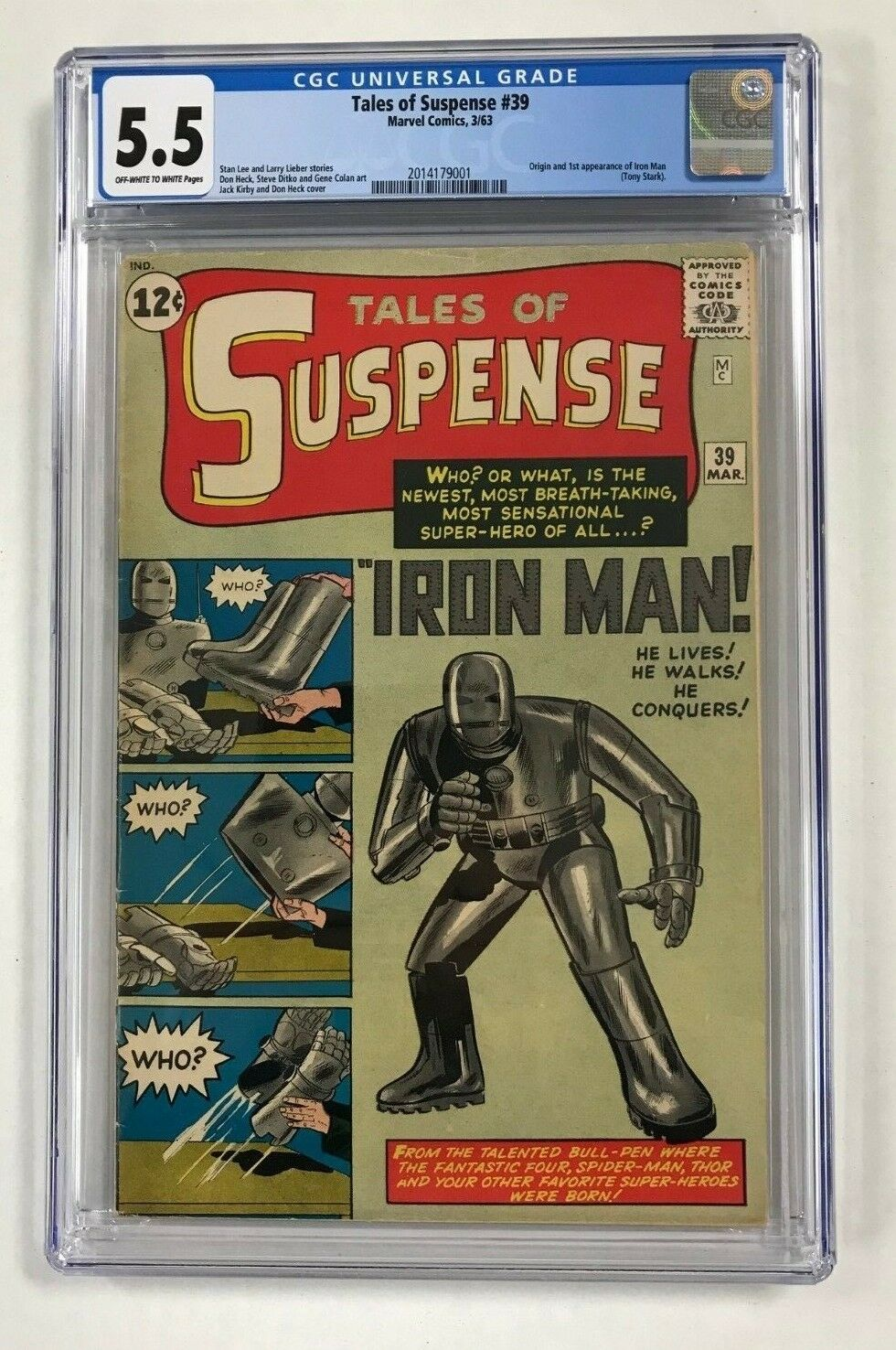 Tales of Suspense #39 Marvel Comics 1963 First appearance of Iron Man Stan Lee