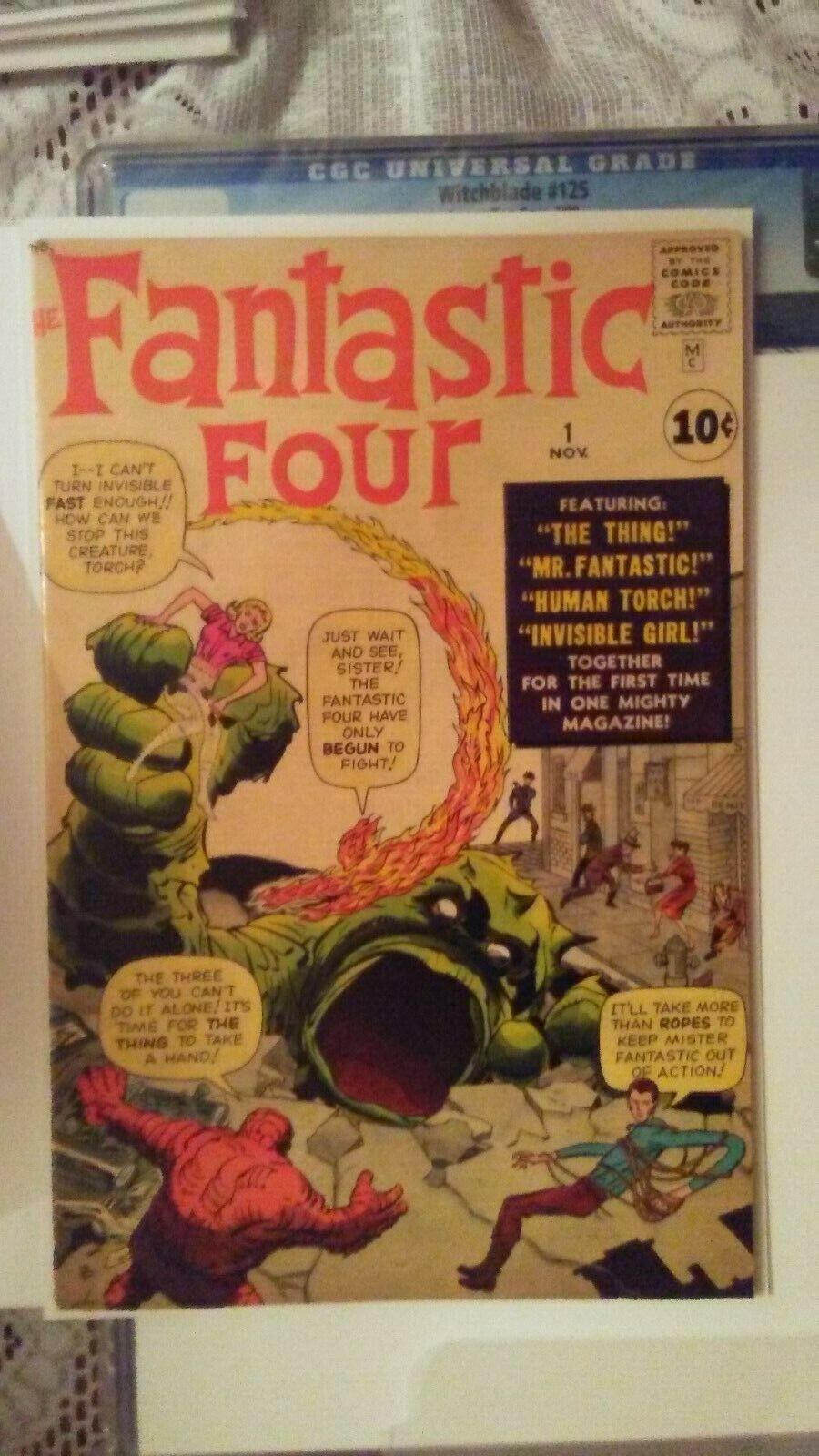 Fantastic Four #1 Vol 1 Super High Grade 1st App of Fantastic Four Original 1961
