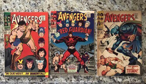 Avengers Silver Age Lot of 3 Avengers 38. Avengers 43. Avengers 50.