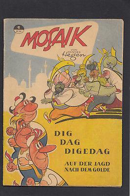 Mosaik Heft Nr. 1 - 1955  DDR die Digedags von Hannes Hegen und sein Kollektiv