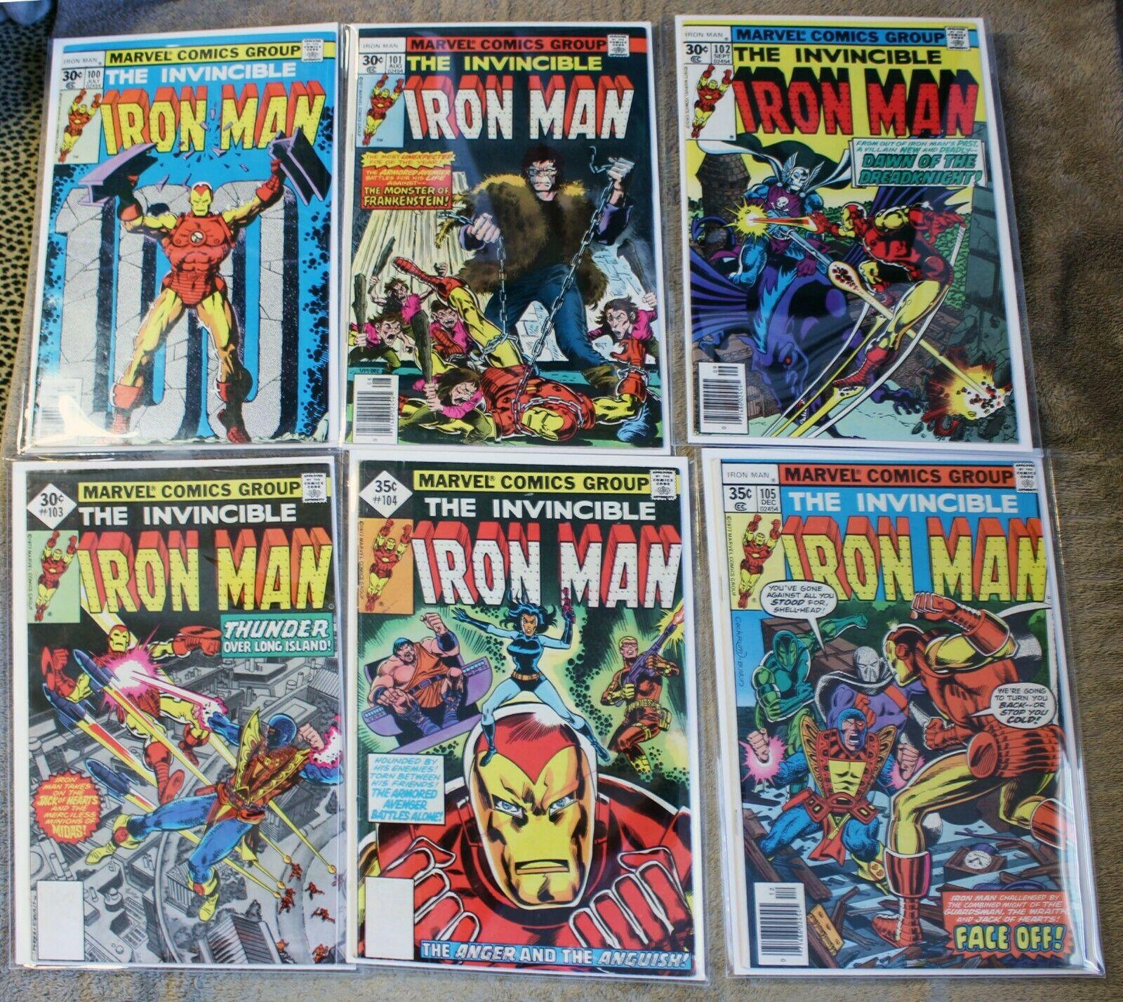 Iron Man #100 - #199 Avg VF/NM High Grade Lot .. 4 issues missing
