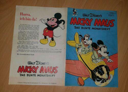 Walt Disney Micky Maus 1/51 Nullnummer eine Werbeheft für Händler Dachboden Fund