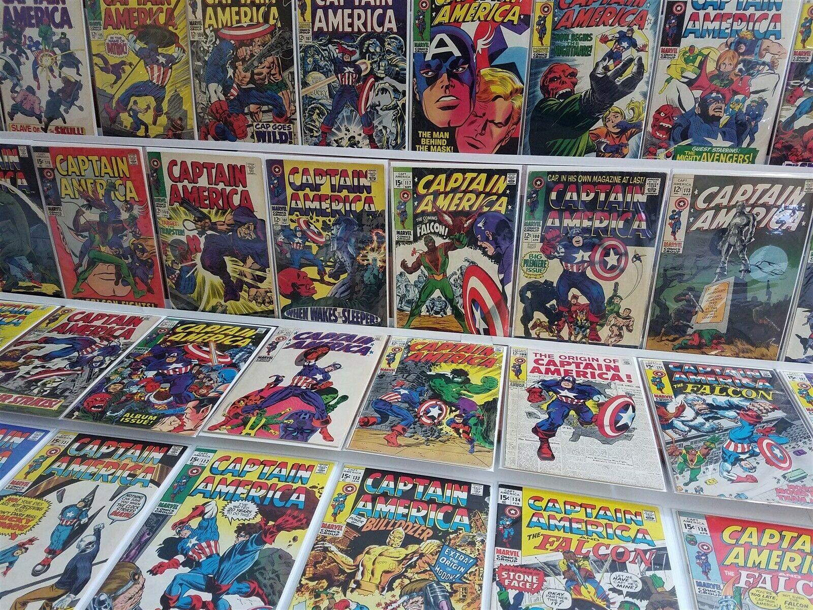 Captain America #100-142 110 117 118 1st Falcon Viper Hi Grade Kirby Stan Lee