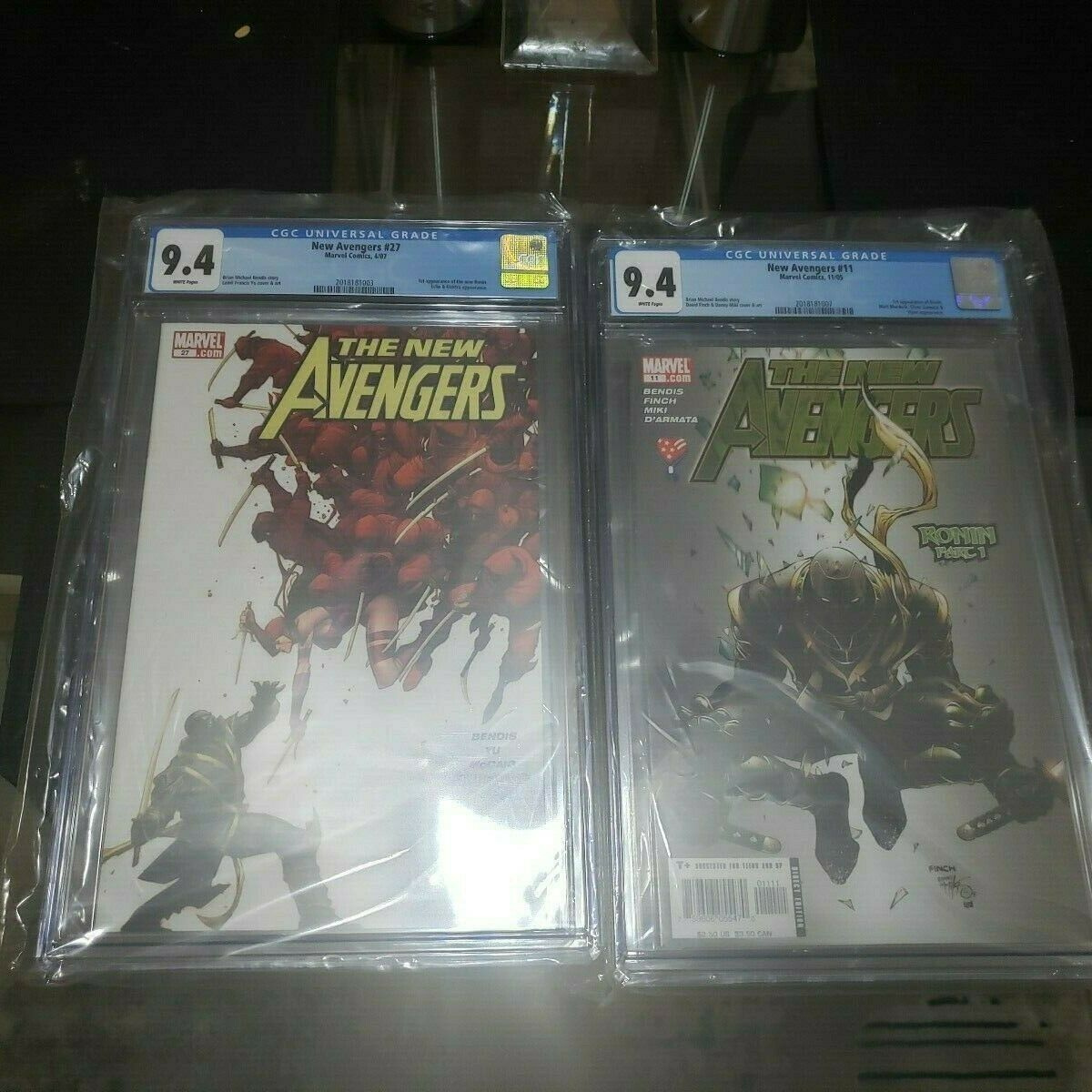 New Avengers #11  and New Avengers 27. CGC 9.4.  Key issues AVENGERS : END GAME