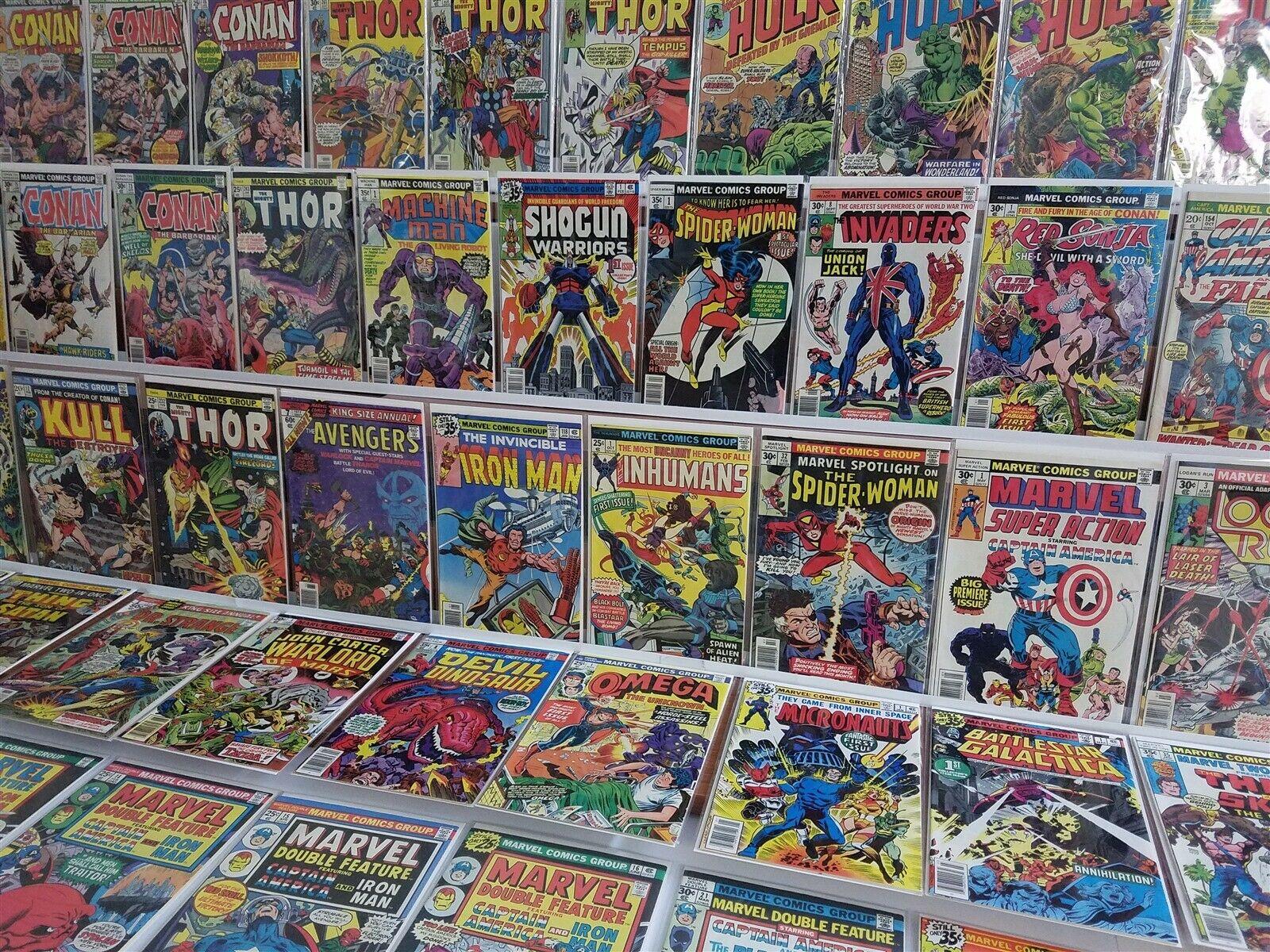 Marvel 100 HIGH GRADE Bronze Lot Spotlight 32 Spider-Woman Iron Man 118 Avg VF+