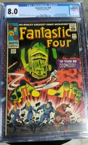 FANTASTIC FOUR #49 CGC 8.0 1st FULL APP GALACTUS, First Silver Surfer Cover OW