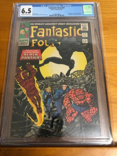 Fantastic Four #52 - CGC 6.5 FN+ Marvel 1966 - 1st App of The Black Panther