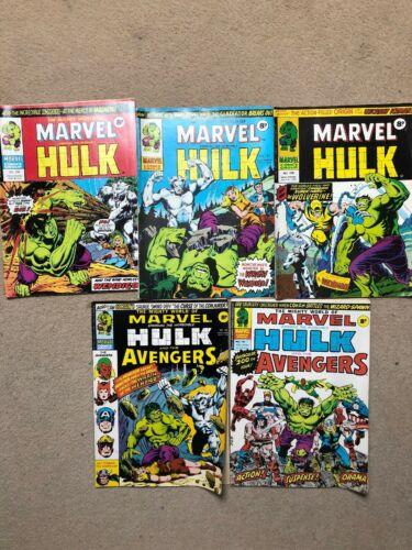 RARE MIGHTY WORLD OF MARVEL  196,197,198,199,200.1st UK Wolverine.Full Story Arc