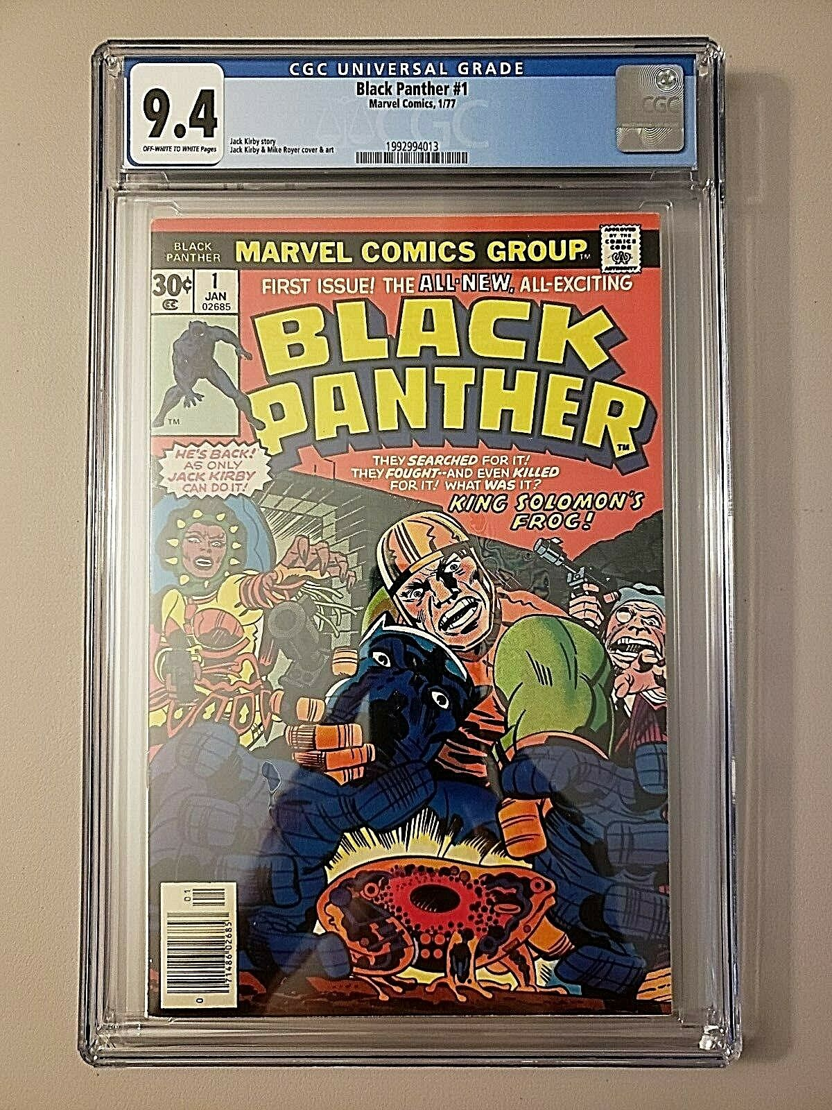 Black Panther #1 graded CGC NM 9.4 new case movie 1977 1976 fantastic four 52