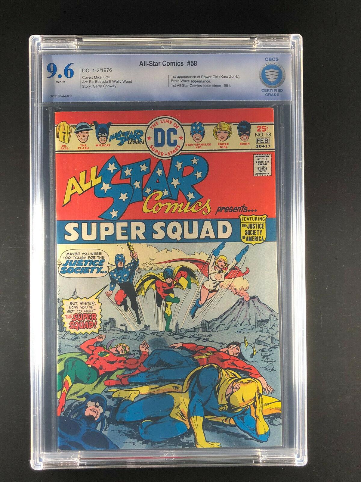 All Star Comics 58 CBCS 9.6 1st appearance Power Girl Kara Zor-L Karen Starr J