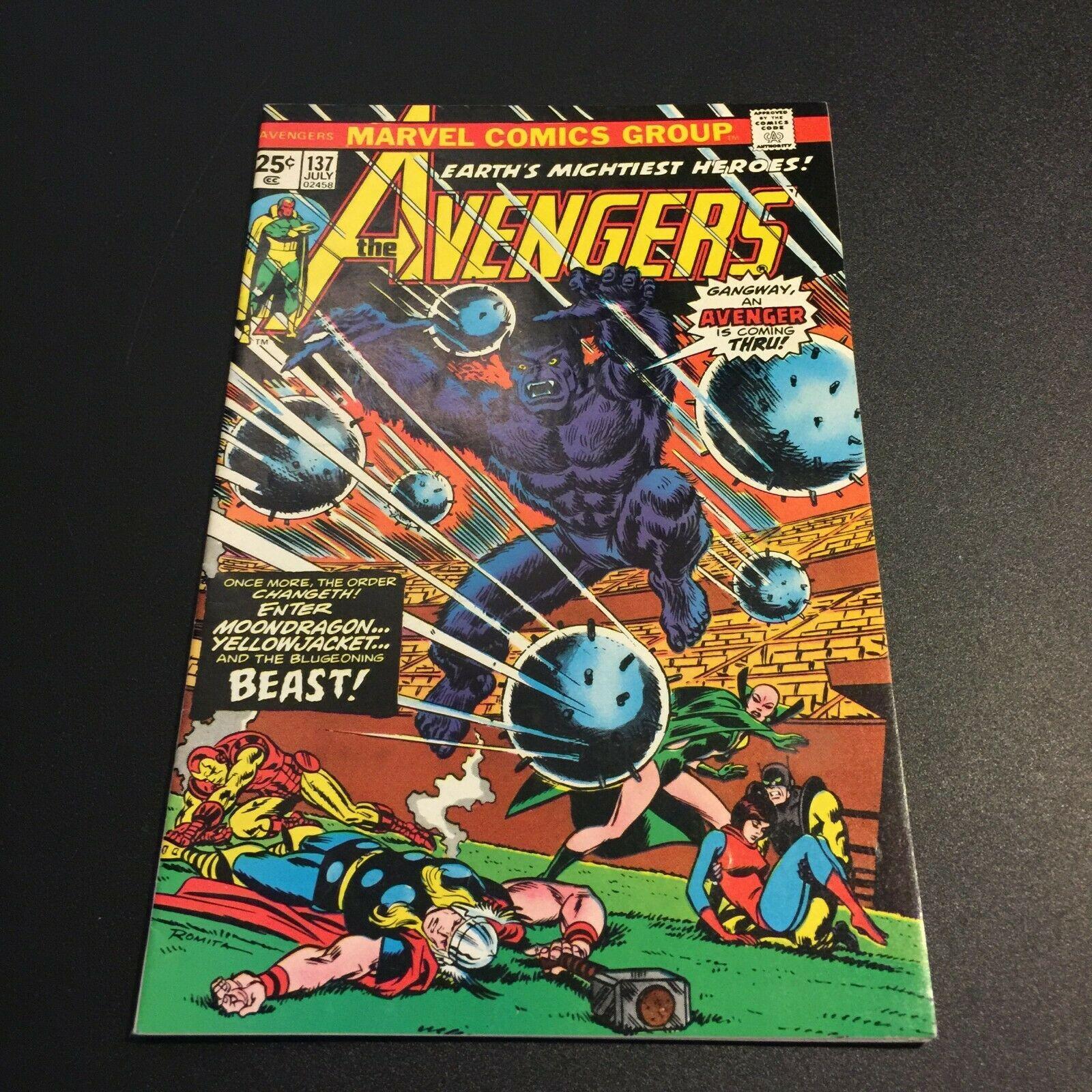 AVENGERS #137 1975 NM 9.4 Beast Joins Iron Man Thor Marvel Comics