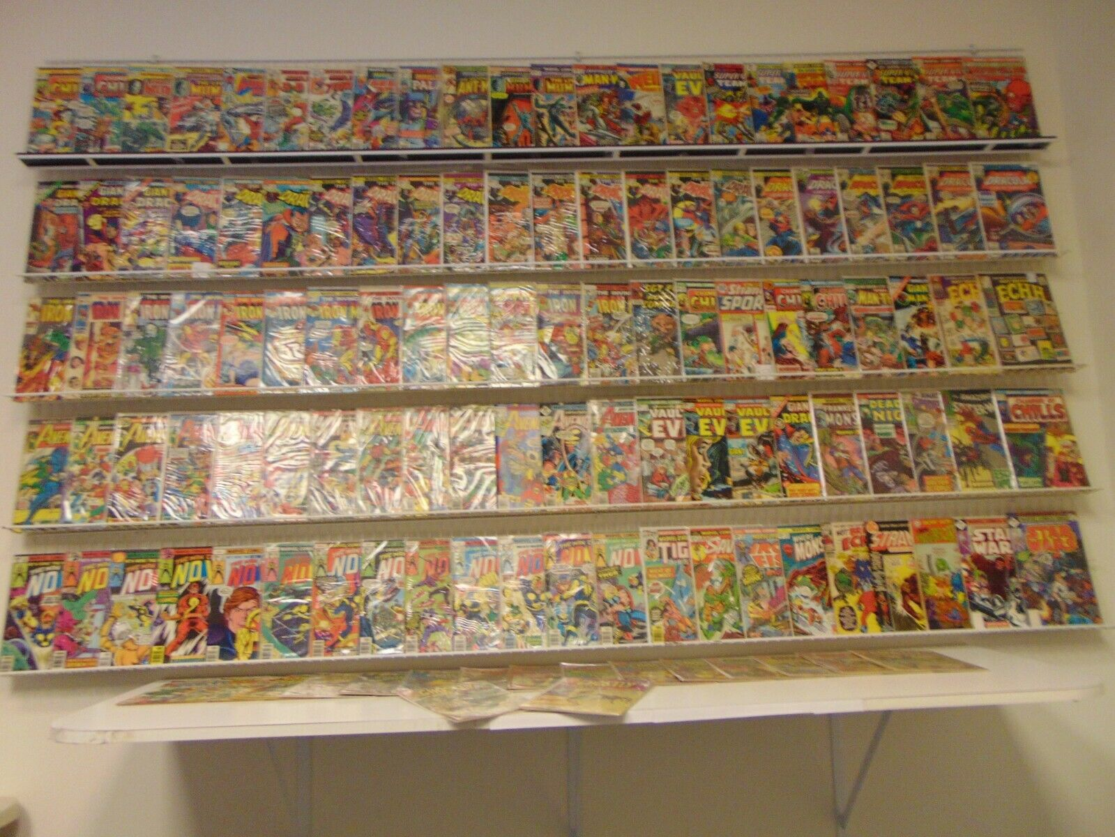 Huge Lot 120+ Bronze Age Comics W/Dracula, Iron Man, Avengers+ Avg VG- Condition