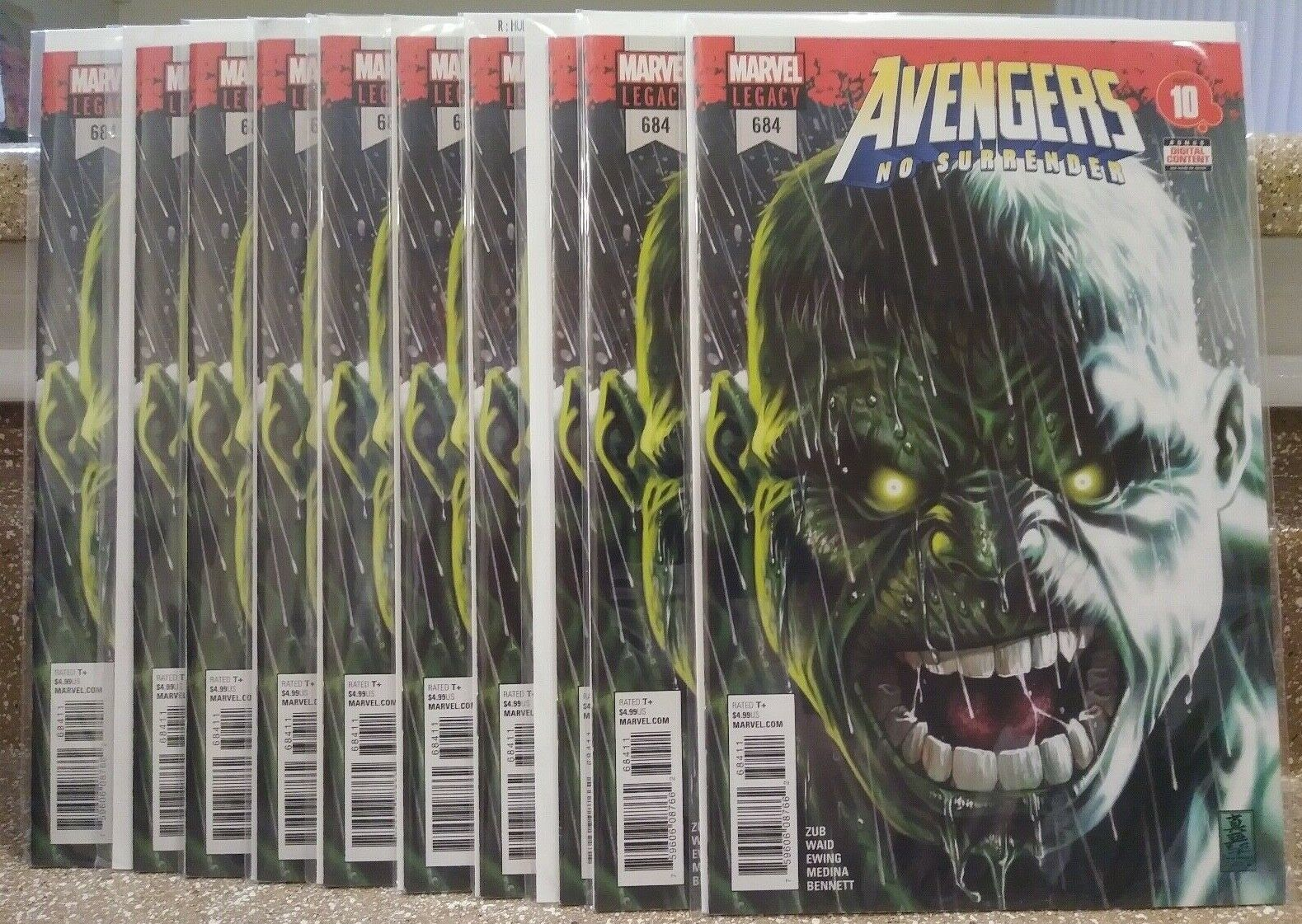 Avengers 684 1st Appearance Immortal Hulk 1st Print LOT OF 10 HOT INVESTMENT