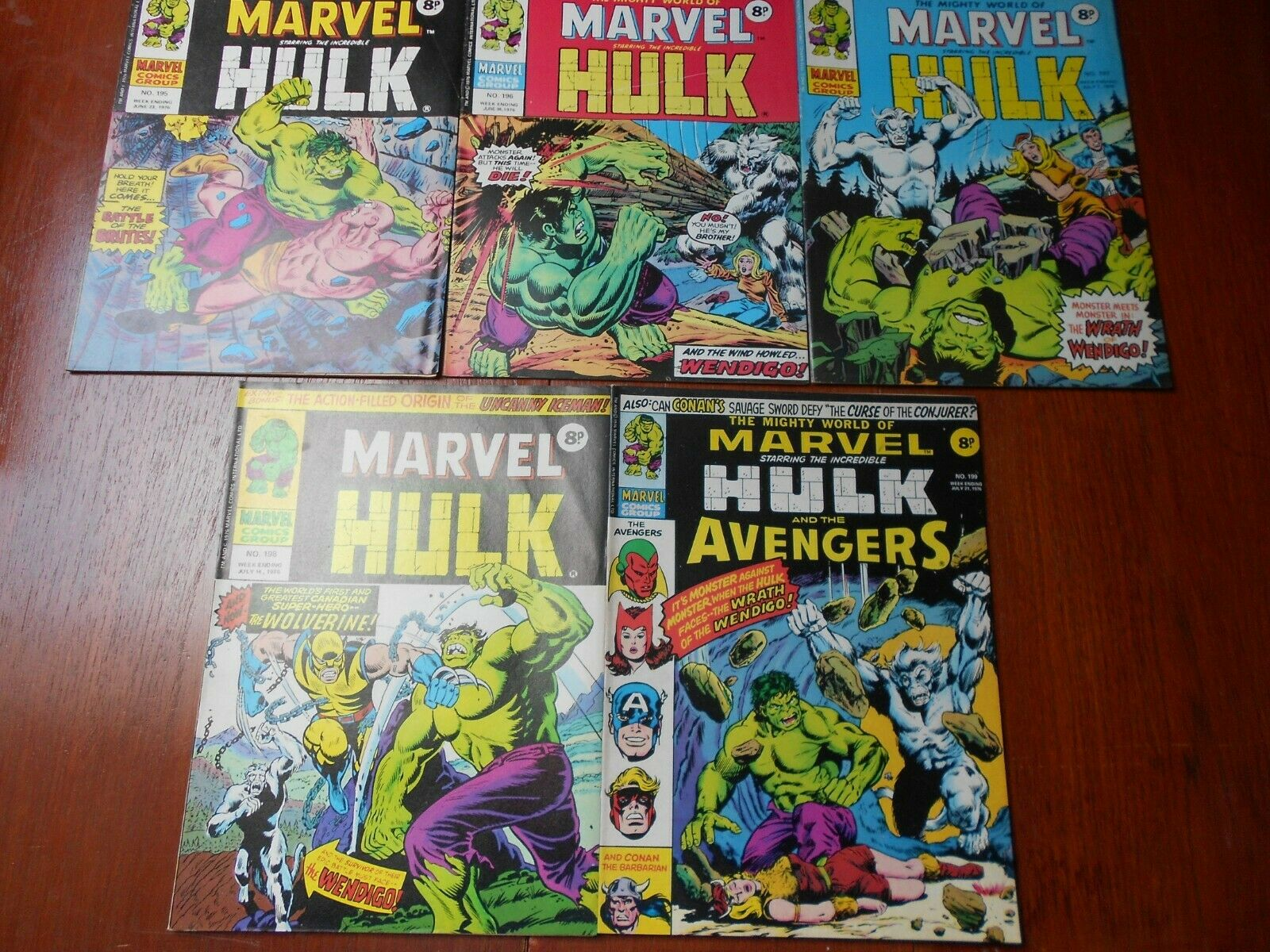 Mighty World of Marvel  Weekly UK issues 195,196,197,198,199