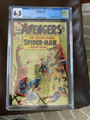 Avengers #11 Comic Book CGC 6.5 Early Spiderman