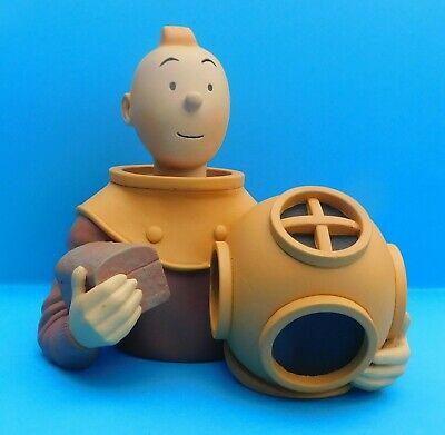 PIXI REGOUT; Réf. 30011 Buste de Tintin en scaphandrier Avec étiquette sous base