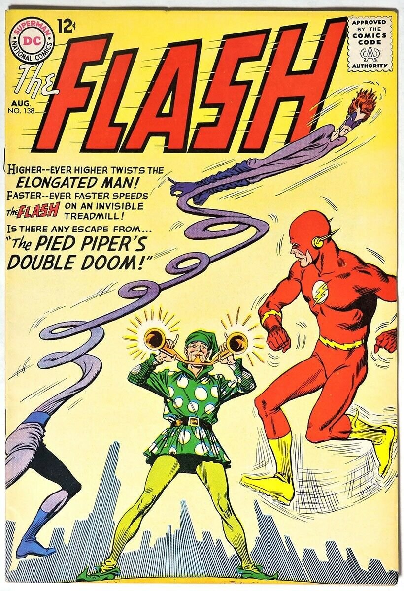 S565. THE FLASH #138 by DC 8.0 VF (1963) SILVER AGE, 1st App. of DEXTER MYLES