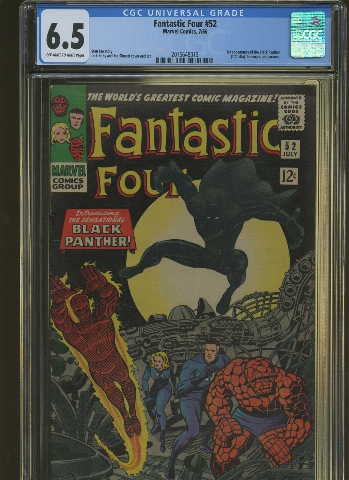Fantastic Four 52 CGC 6.5 | Marvel 1966 | 1st Black Panther - T'Challa.