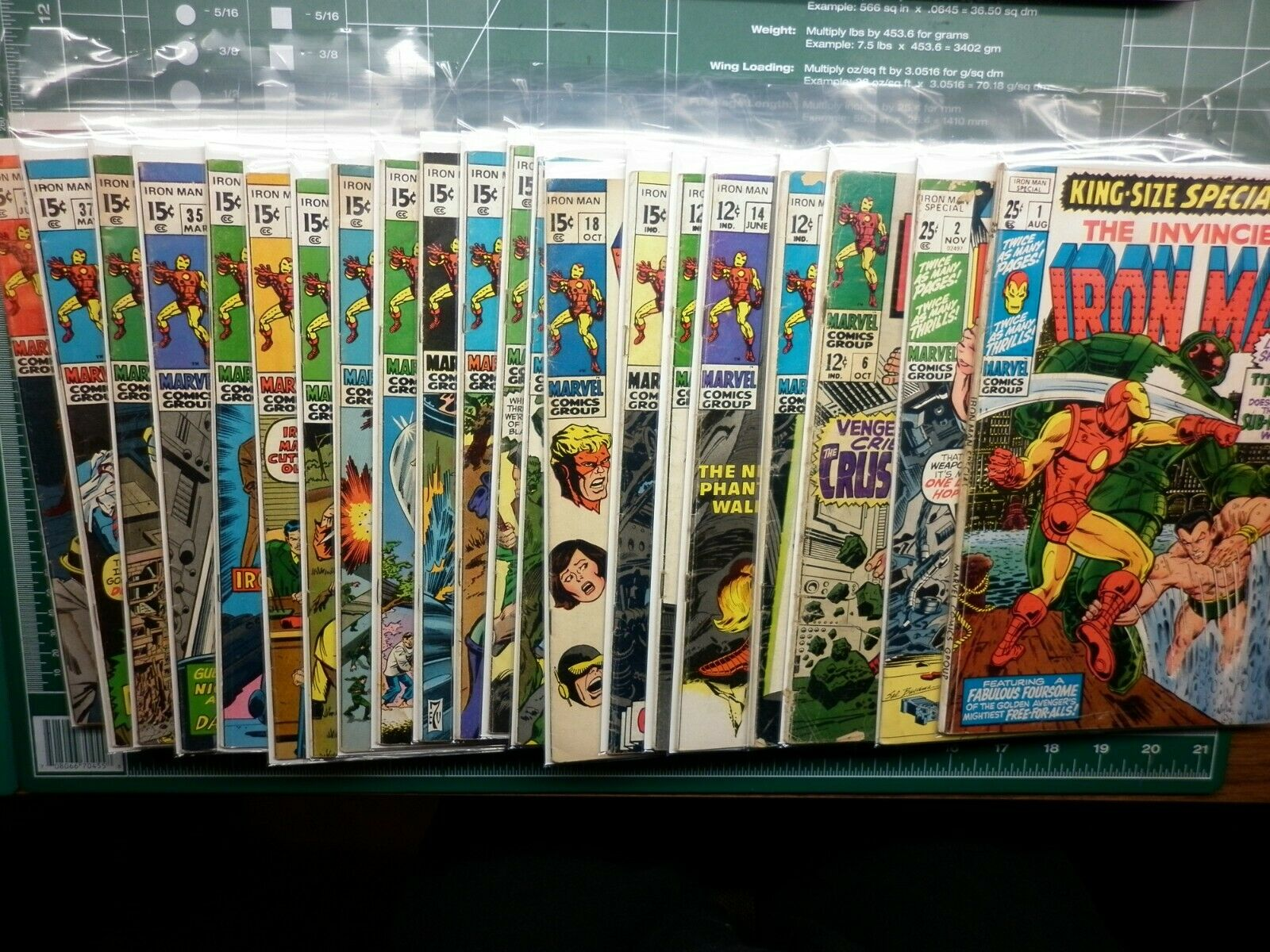 Lot of 22 The Invincible Iron Man Bronze age comics