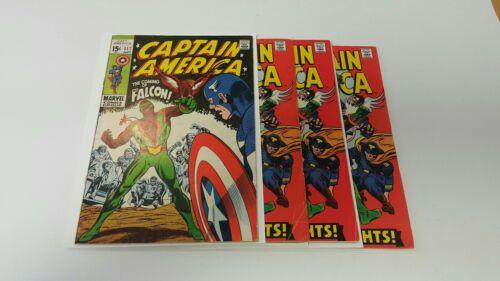 Captain America 117, (1968), FN-, Captain America 118, 3 copies, 1st Falcon, lot