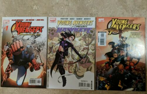 Young Avengers 1 Directors Cut, Young Avengers 12, Young Avengers Presents 6 lot