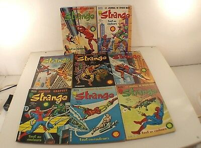 BD Marvel STRANGE France N° 122 123 125 128 129 131 Comics XMen Iron Man 1980