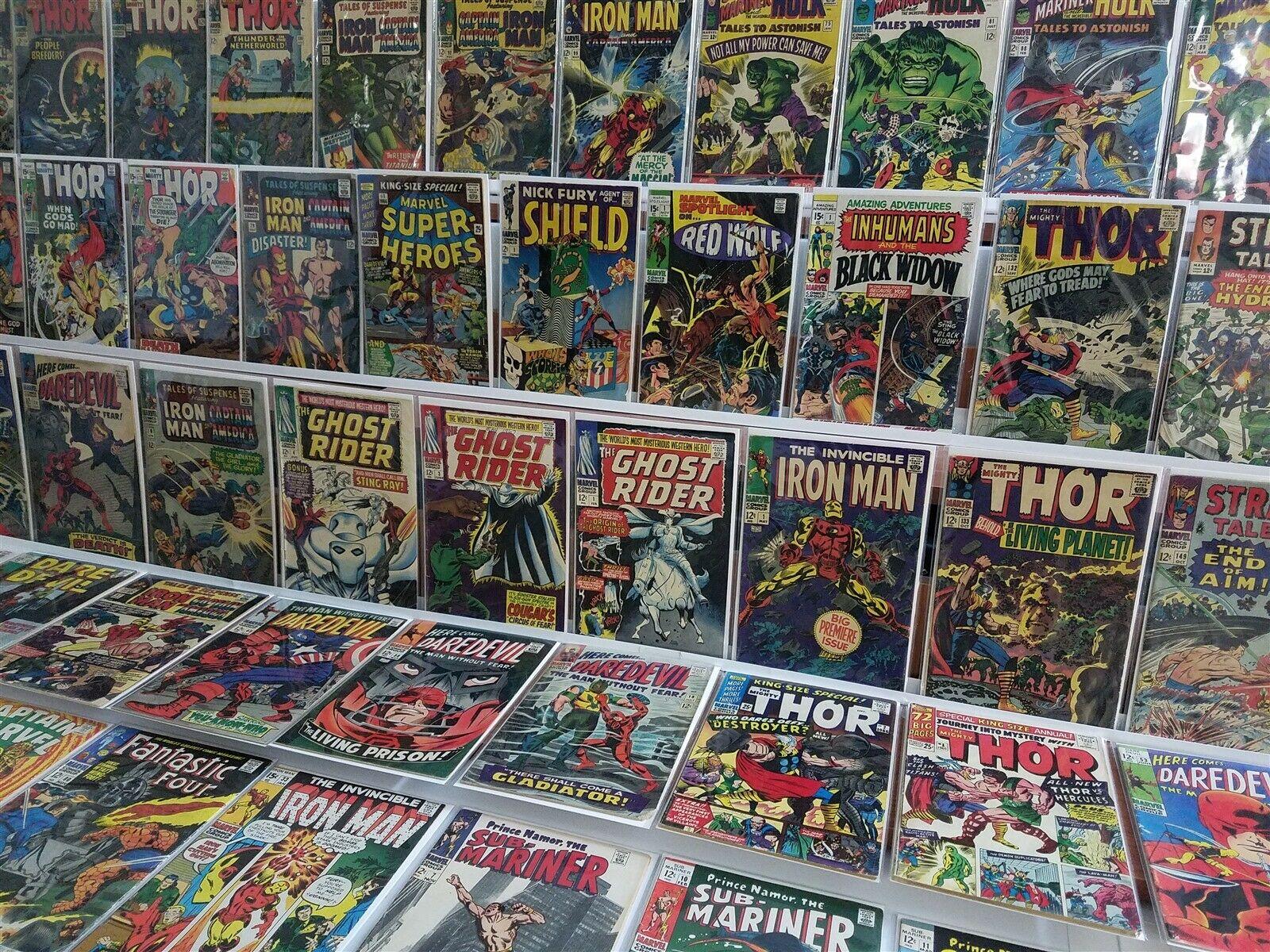 100 All Marvel Silver Lot Thor 132 133 Nick Fury Iron Man JIM Ann 1 Hercules