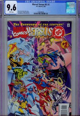 MARVEL VERSUS DC #2 CGC 9.6, 1996, WHITE PAGES, BATMAN, SPIDER-MAN