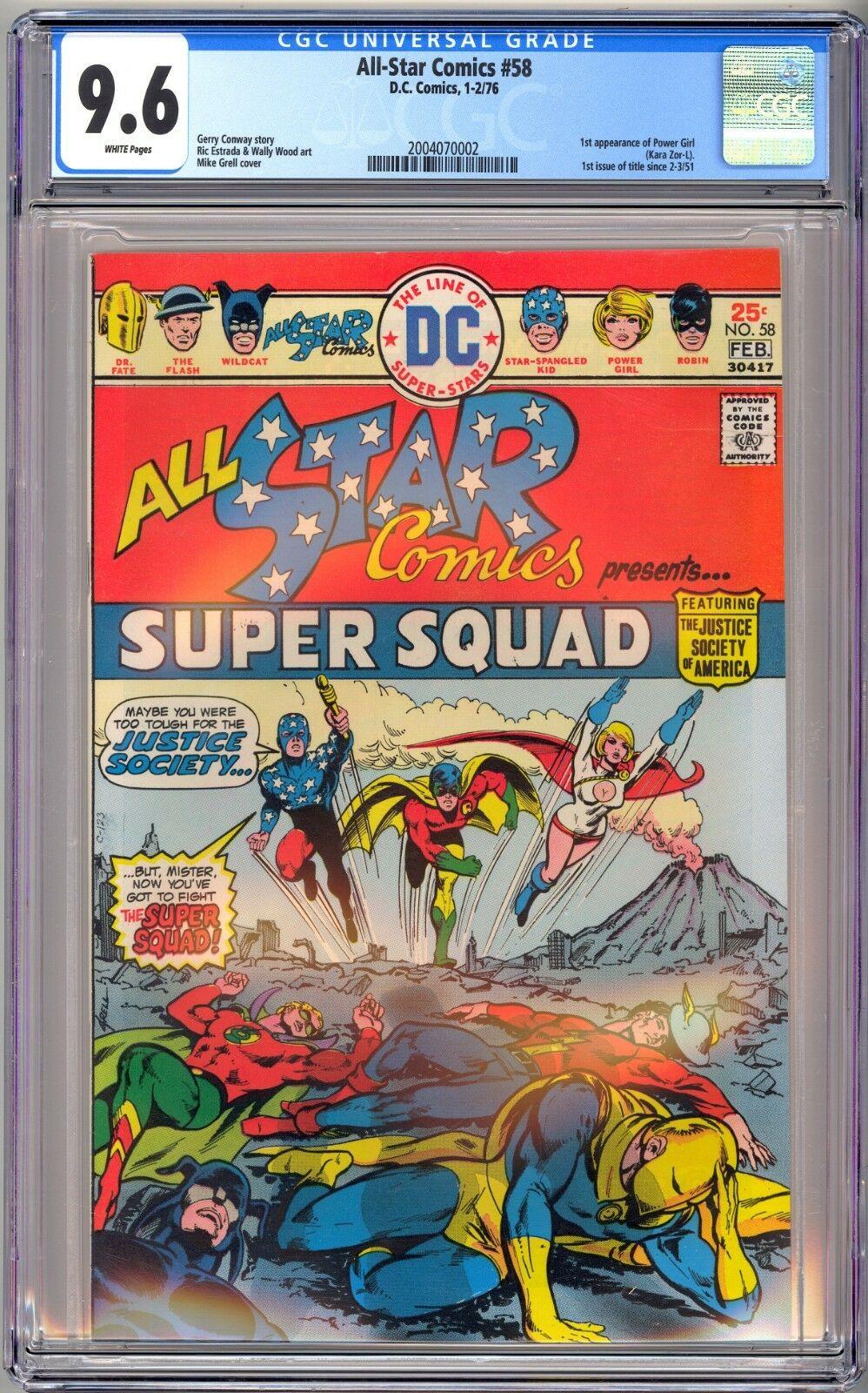 DC ALL STAR COMICS #58 - CGC 9.6 WHITE NM+ 1st POWER GIRL