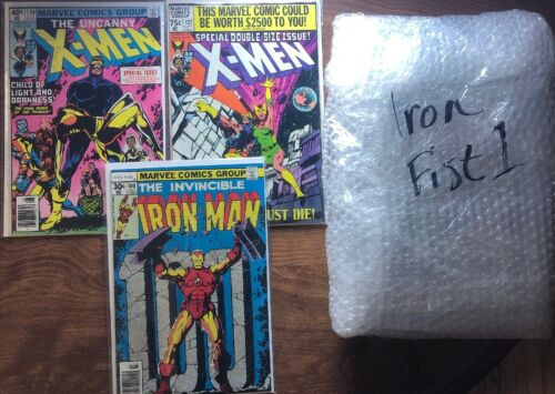 SOLD LOT of 4-Iron Fist #1-CGC 9.0-Iron Man 100-X Men 136 & 137