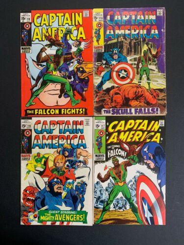 Captain America ???? #'s 116,117,(????),118(????),119 1st Falcon Marvel Comics