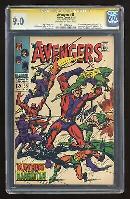 Avengers (1963 1st Series) 55 CGC 9.0 SS Stan Lee 0220134005