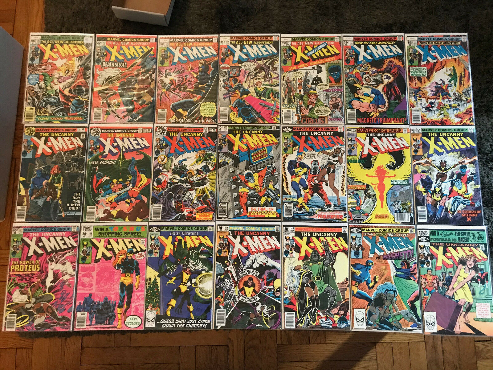 Uncanny X-men #103, 105, 106, 110, 111, 112, 113, 114, 115, 119, 122, 124, MORE