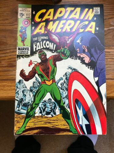 Captain America #117 And 118 1st Appearance Of Falcon Key Issue Great Color